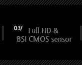 3.full HD&BSI cmos sensor