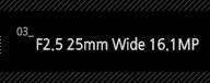 3.F2.5 25mm Wide 16.1MP