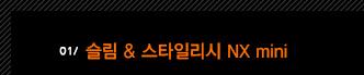 1. 슬림 & 스타일리시 NX mini