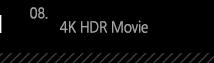 8. 4K HDR Movie