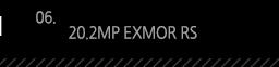 6. 20.2MP EXMOR RS