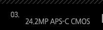 3. 24.2MP APS-C CMOS