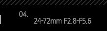 4. 24-72mm F2.8-F5.6