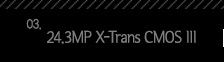 3.24.3MP X-Trans CMOS III