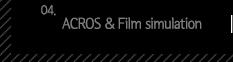 4.ACROS , Film simulation
