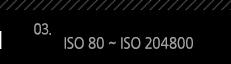 3. ISO 80 ~ ISO 204800
