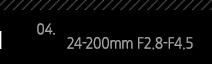 4. 24-200mm F2.8-F4.5