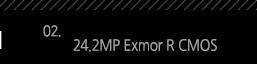 2. 24.2MP Exmor R CMOS