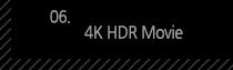 6. 4K HDR Movie