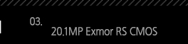 3. 20.1MP Exmor RS CMOS