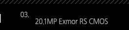 3. 20.1MP Exmor RS CMOS