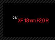1. XF 18mm F2.0 R